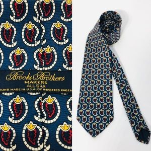 BROOKS BROTHERS MAKERS Necktie All Silk Made USA